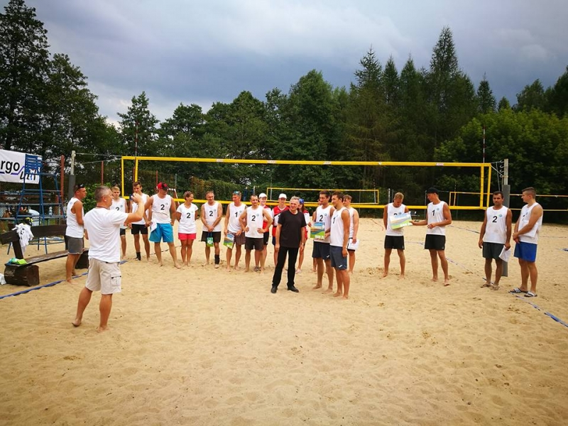 Green Beach Volleyball